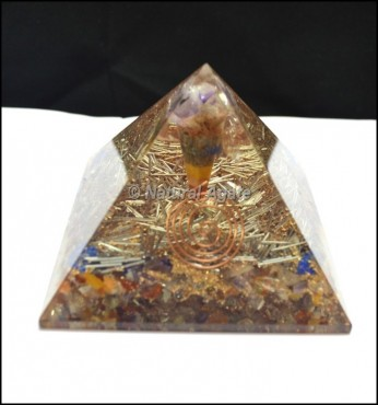 Energy Orgone Pyramid with Chakra Pendulums