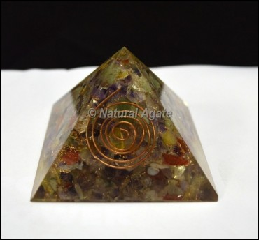 Multi Stone Orgone Pyramids