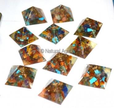 Orgone Chakra pyramids 1 Inches
