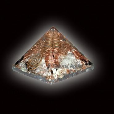 Crystal Quartz With Points Orgone Pyramid