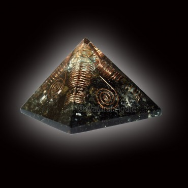 Black Tourmaline With Crystals Orgone Pyramids