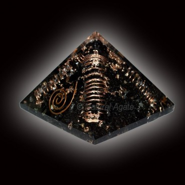Black Tourmaline Choko Reiki Orgone Pyramids