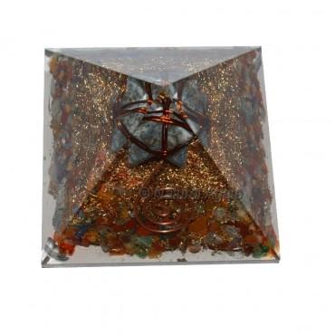 Chakra Stones With Merkaba Star Orgone Pyramids