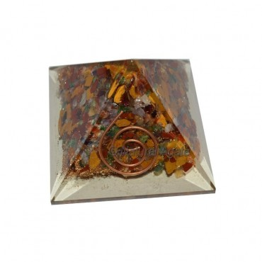 Mix Gemstone Orgone Pyramids