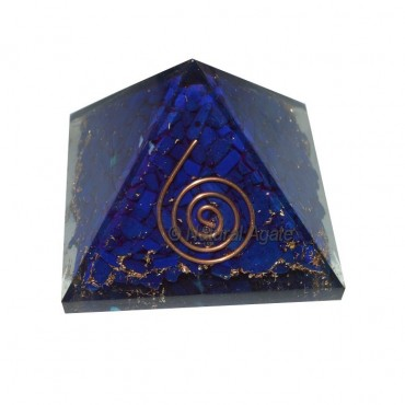 Syntactic Lapis Lazuli Orgone Pyramids