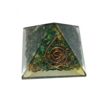 Green Aventurine Orgone Pyramids
