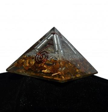 Tiger Eye Orgonite Pyramid