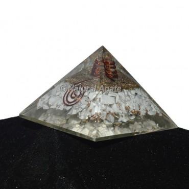 Howlite Orgonite Pyramid