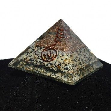 Dalmation Jasper Orgonite Pyramid