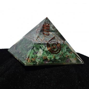 Ruby Zeosite Orgonite Pyramid