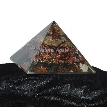 Mahagoni Obsidian Orgonite Pyramid