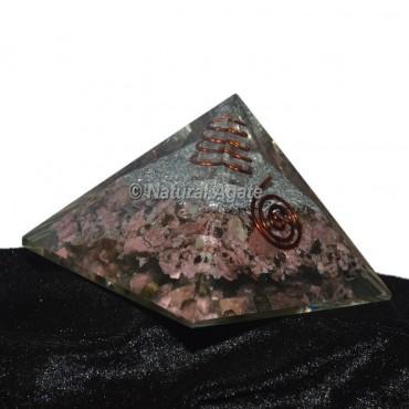 Rhodochrosite Orgonite Pyramid