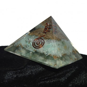 Green Fluorite Orgonite Pyramid