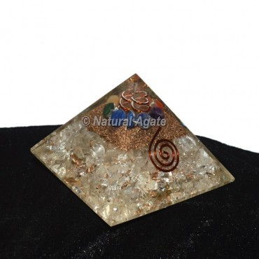 Crystal Quartz Orgonite Pyramid