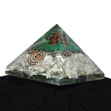 Iolite With Green Aventurine Orgonite Pyramid