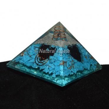 Turquoise Orgonite Pyramid