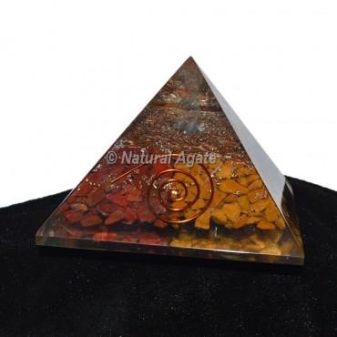 Red Jasper-Yellow Jasper Orgonite Pyramid