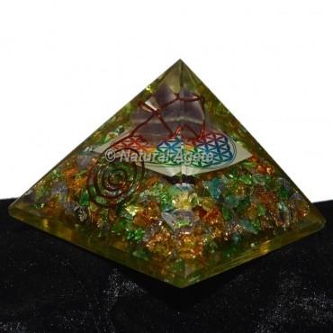 Crystal Chakra Orgonite Pyramid