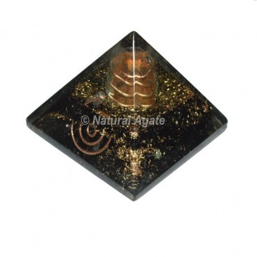 Black Tourmaline Orgonite Pyramid