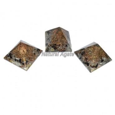 Black Tourmaline With Crystal Mini Pyramid