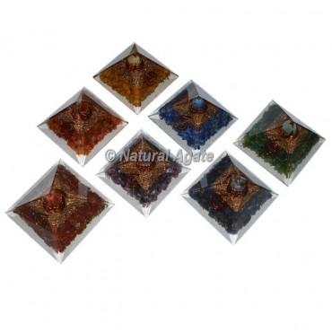 Seven Chakra Mini Pyramid Set