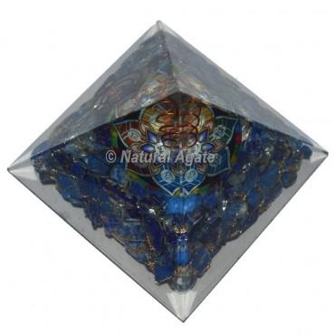 Lapis Lazuli With Sanskrit Symbol Orgone Pyramid