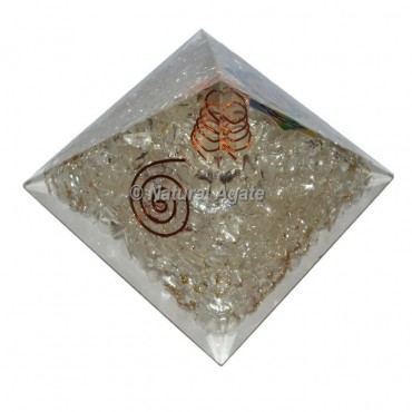 Crystal Quartz Orgone Pyramid