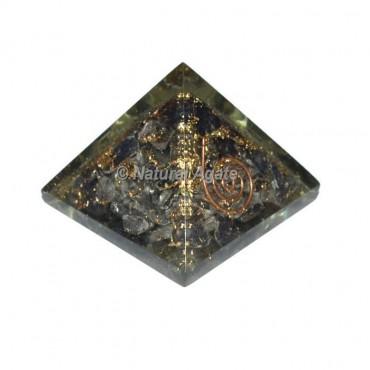Crystal Quartz With Tourmaline Mini Pyramid