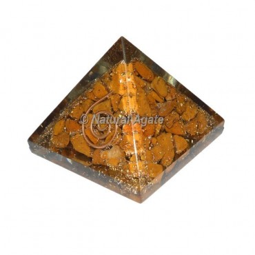 Yellow Jasper Small Orgone Pyramid