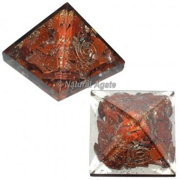 Red Jasper Small Orgone Pyramid