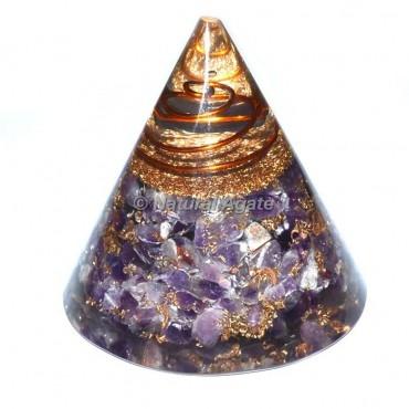 Amethyst Orgone Cone