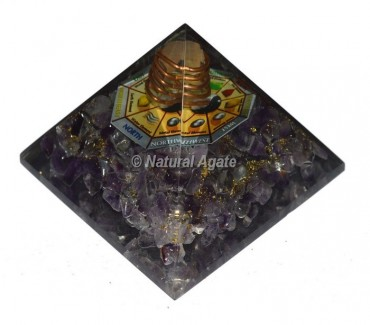 Amethyst Direction Pyramid With Crystal Point