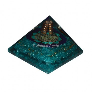 Crystal Quartz Yoga Orgonite Pyramid