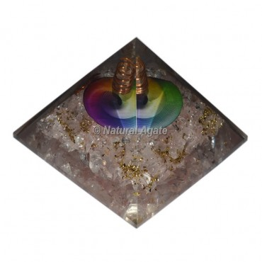 Rose Quartz Color Chakra Symbol Orgonite Pyramid