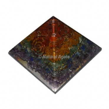 Orgone Seven Chakra Layer Pyramid