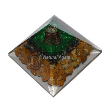 Yellow Jasper Orgonite Pyramid