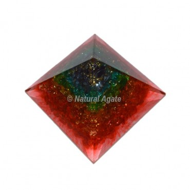 7 Charka Layer Orgone Pyramid