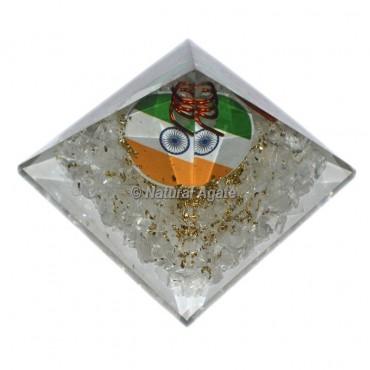 Orgone Crystal Quartz Pyramid