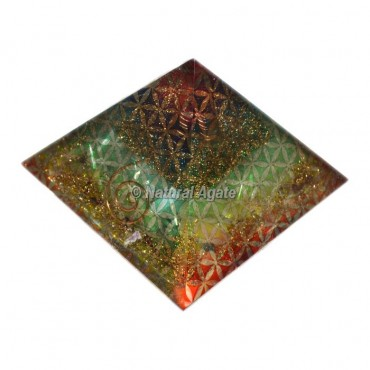 Orgone Chakra Flower Of Life Pyramid