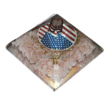 Orgone Rose Quartz Pyramid