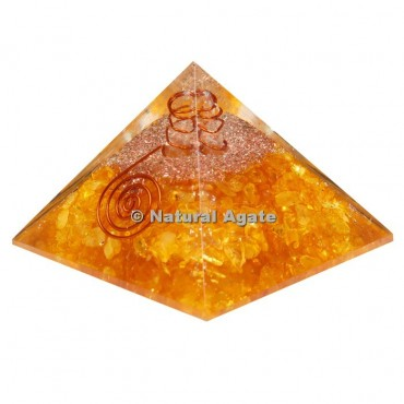 Lemon Citrine Orgone Pyramid