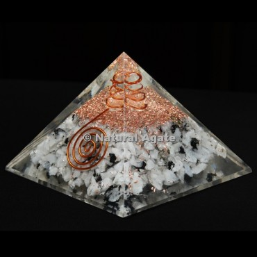 Rainbow Moonstone Orgone Pyramid