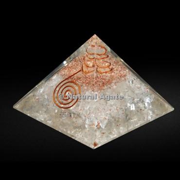 Crystal Quartz Orgone Pyramid