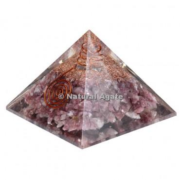 Lepidolite Orgone Pyramid