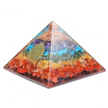 Seven Chakra Orgone Pyramid