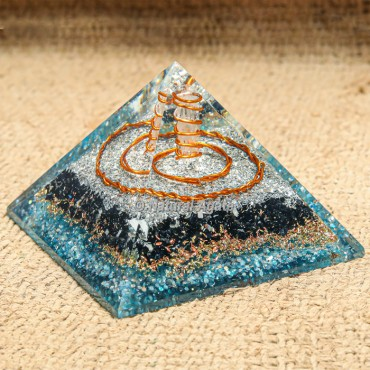 Orgonite Tourmaline and Apatite EMF protection Pyramid