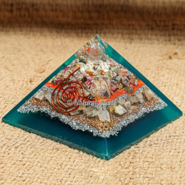 Fancy Tourmaline Orgonite Pyramid EMF protection
