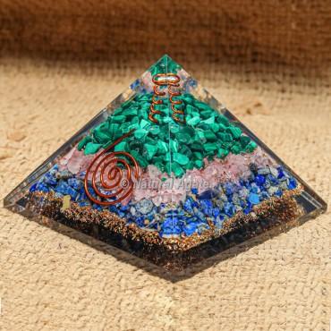 Mix Stone Orgonite Pyramids