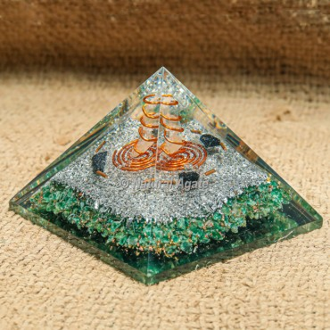 Green Jade Orgonite Protection Pyramid