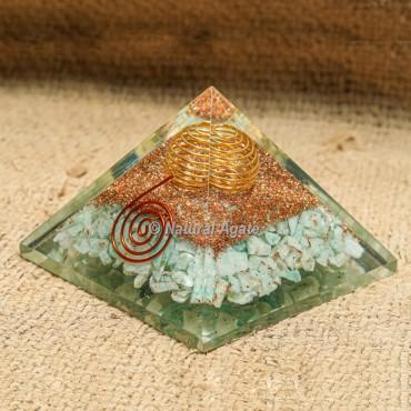 Amazonite Orgonite Protection Pyramid